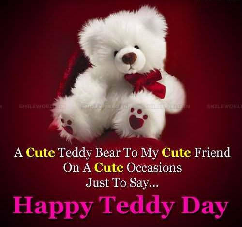happy teddy bear day saying quotes