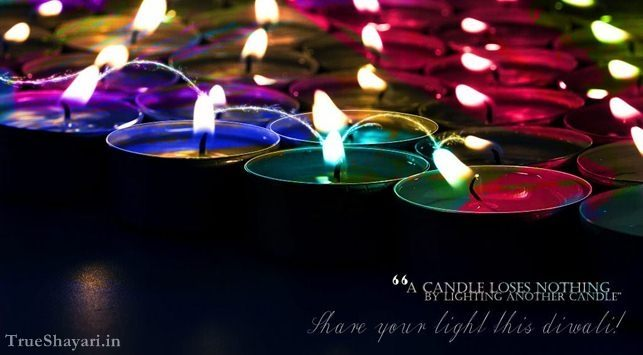 colourful diyas happy diwali greetings card for deepavali