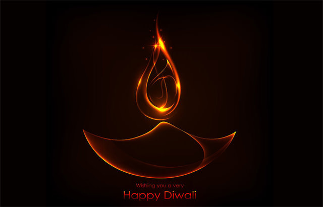 Burning Diwali Diya Wishes Image