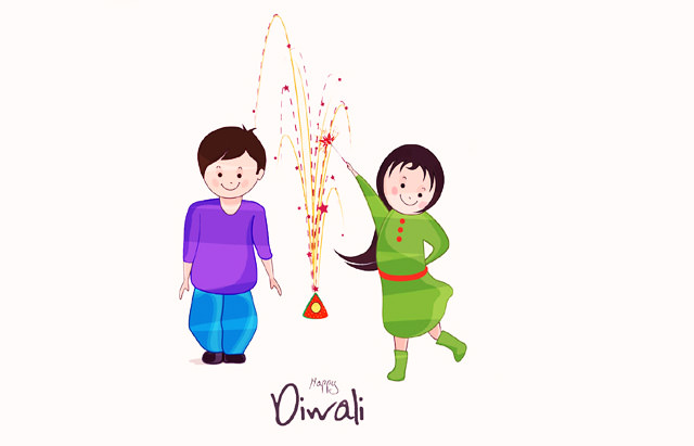 Cute kids images for diwali