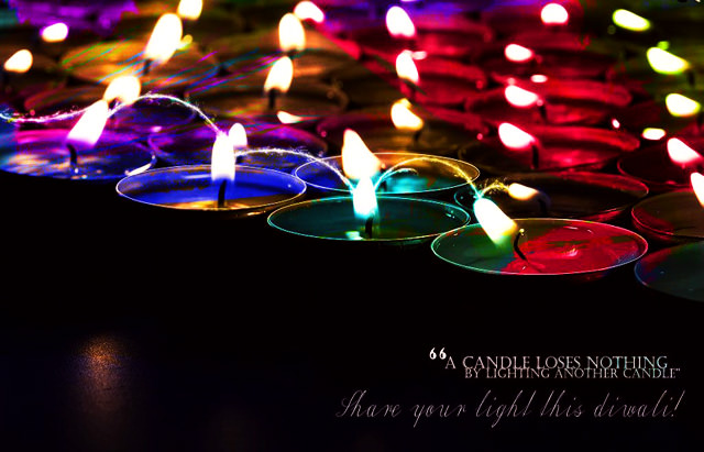 Diwali Lamps and Quotes
