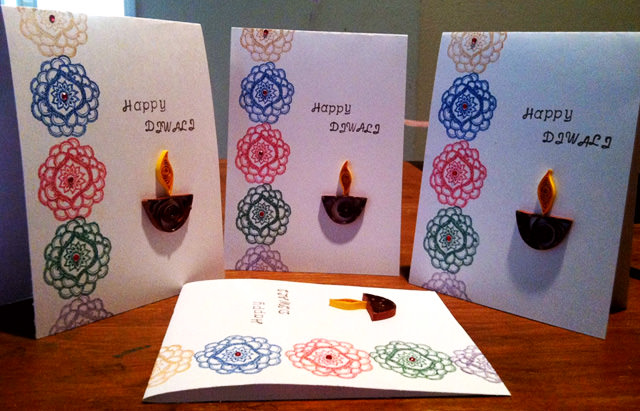 Hand Made Happy Diwali Greetings Cards
