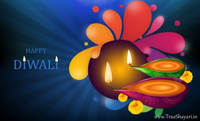 Happy Diwali Greetings of Diya HD