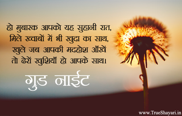 Good Night Images in Hindi, Sad, Love & Inspiring Gud Nyt Shayari Pics