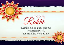 Happy Rakhi Wishes Image for Sis