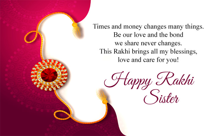 Happy Rakhi Wishes for Sister