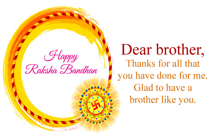 Raksha Bandhan Greeting Card for Bhaiya