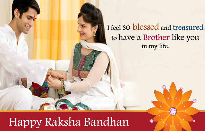 Beautiful lines for brother on rakhi