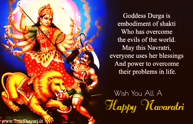 Happy Navratre Images in English