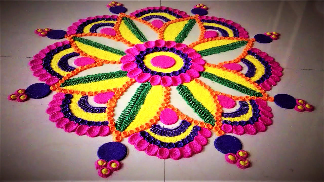 Happy New Year Rangoli Design Gallery 75