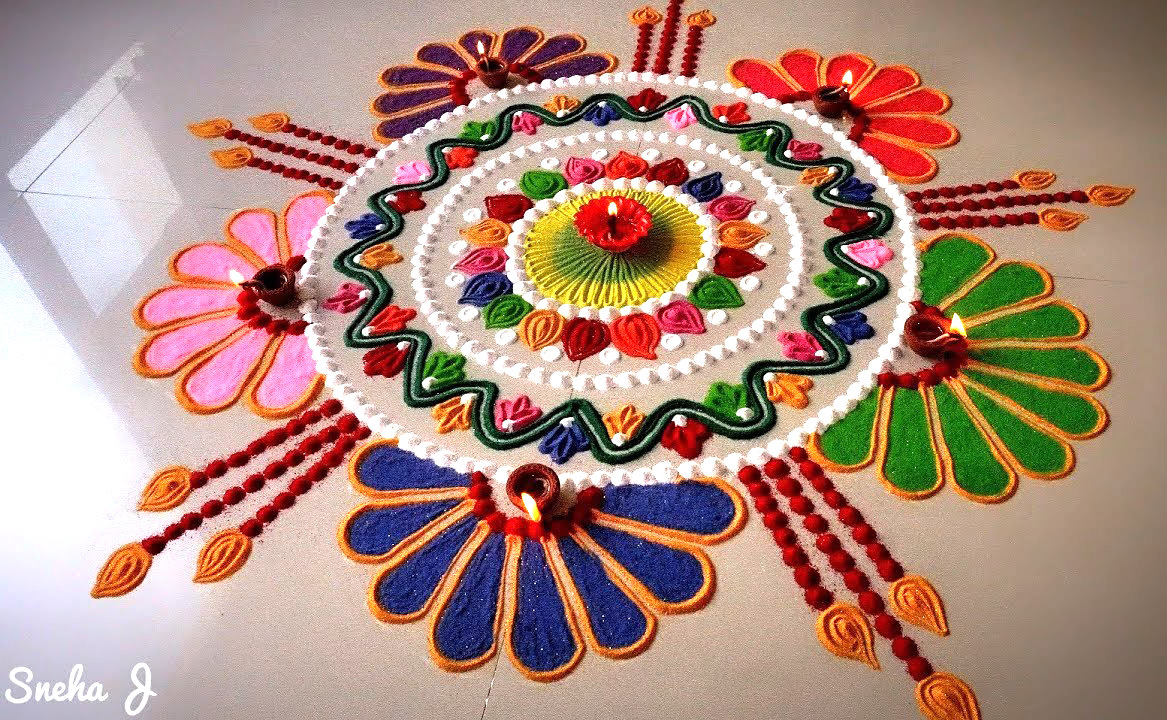 Happy New Year Rangoli Design Gallery 24
