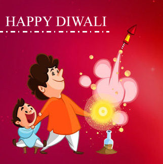 Diwali DP for Family Kids