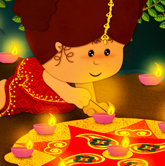 Diwali DP for kids