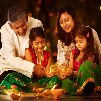 Diwali Family DP for Husband Wife
