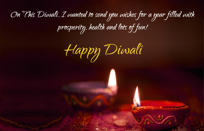 Diwali Quotes with Diya Picture