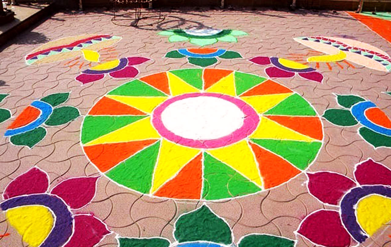 Easy Diwali Rangoli Designs