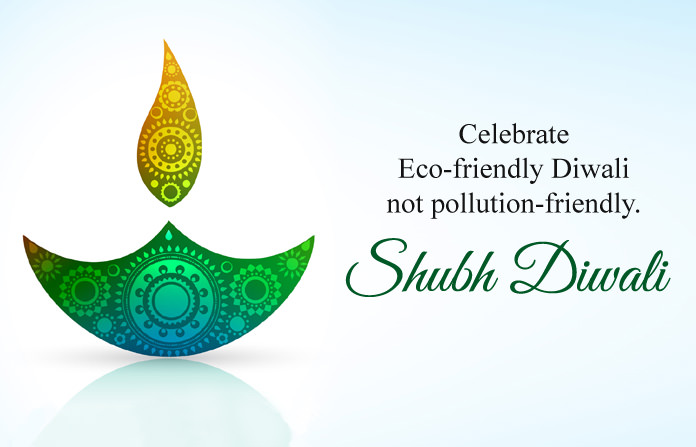 Eco Friendly Shubh Diwali Pics with Green Diya
