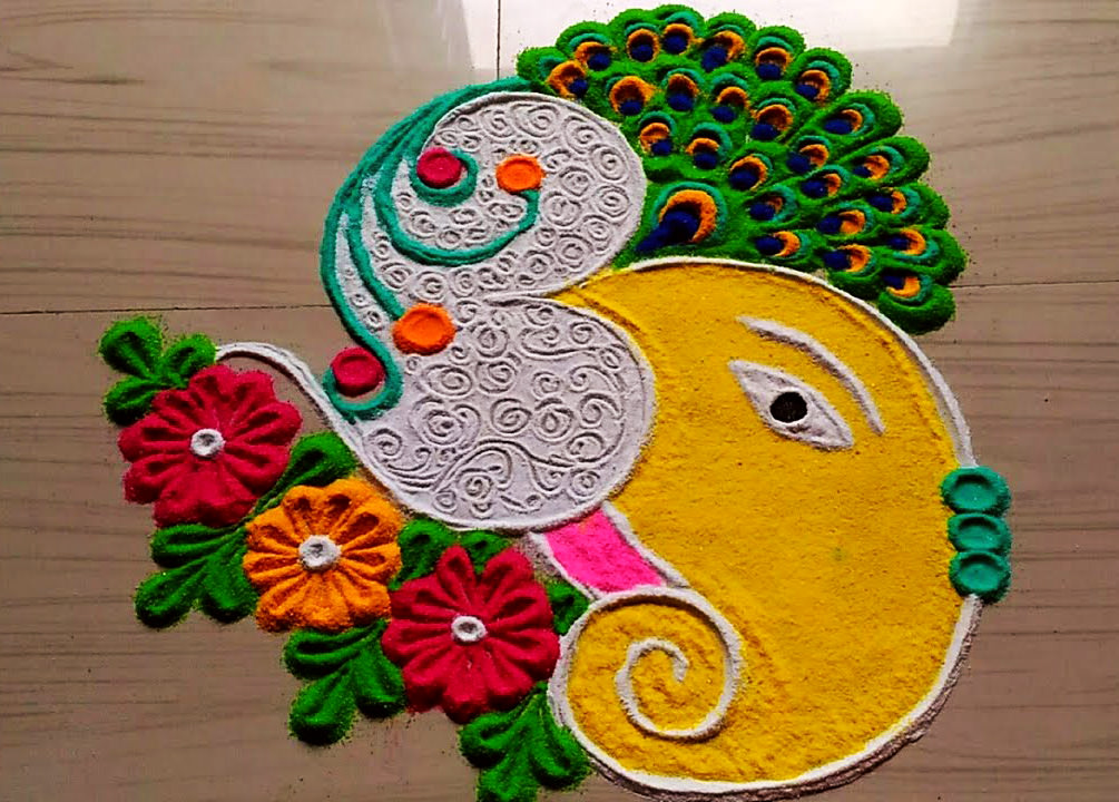 Happy New Year Rangoli Design Gallery 50