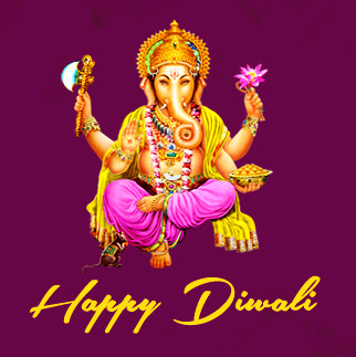 Happy Diwali DP with Ganpati Photo