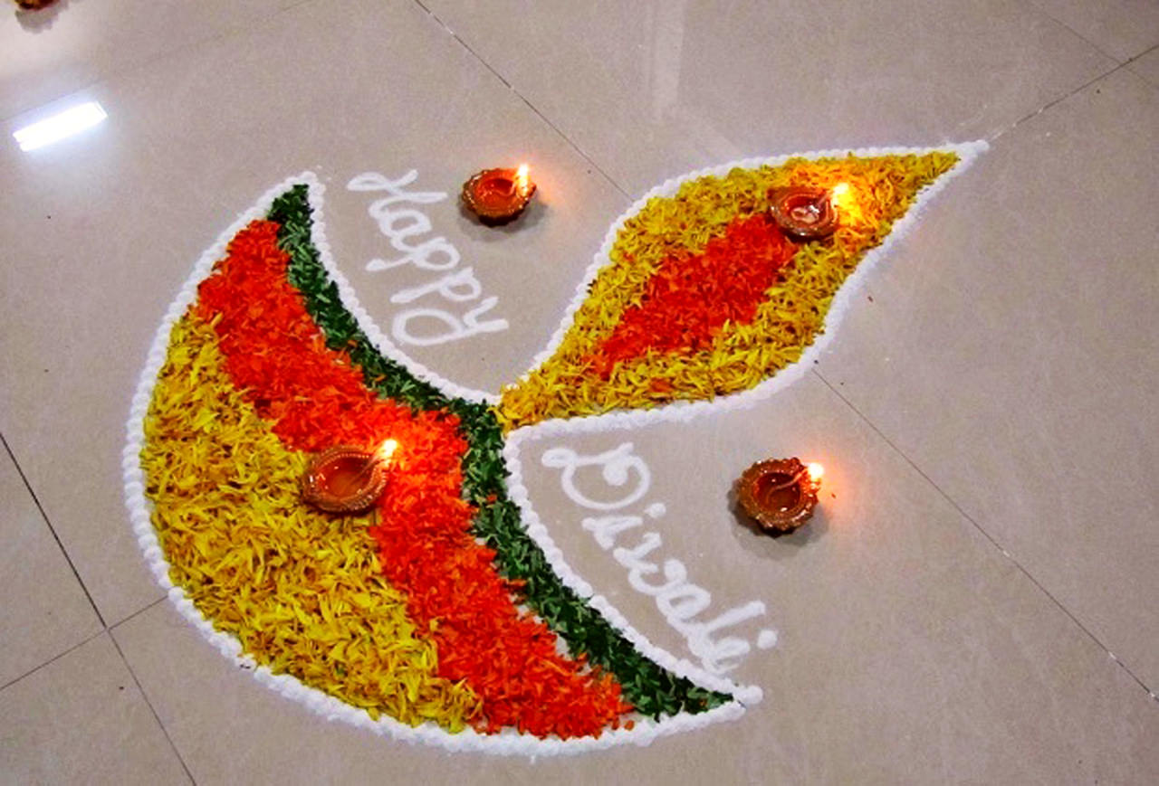 Happy Diwali Diya Rangoli Images