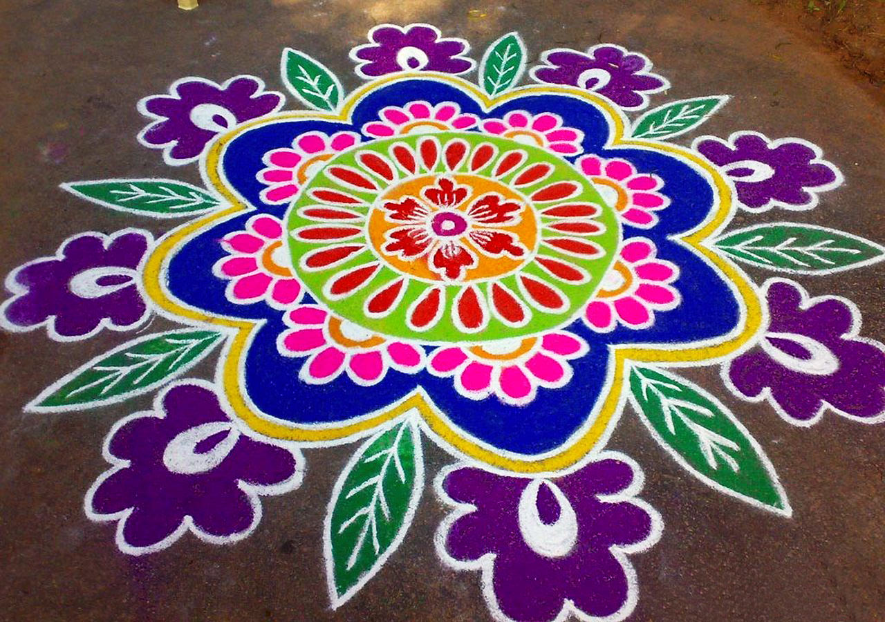 Multi Color Rangoli Pattern