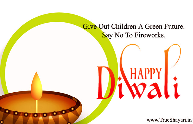 No Firework No Pollution Green Diwali Thoughts