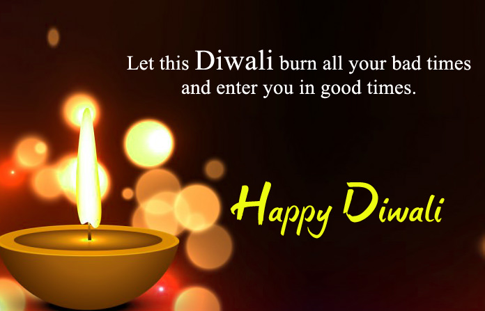 One Liner Diwali Quote Image