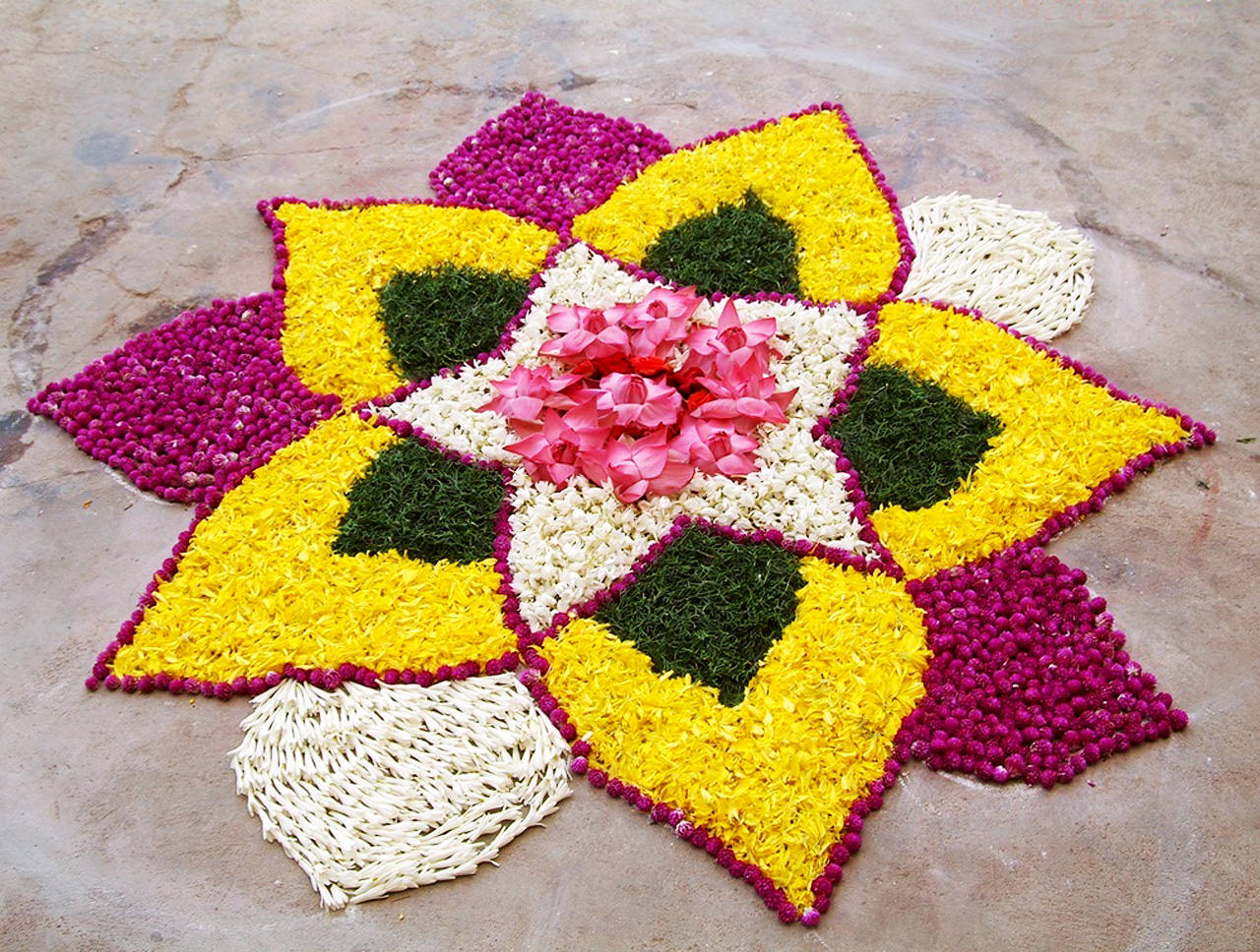Simple Flower Rangoli Images
