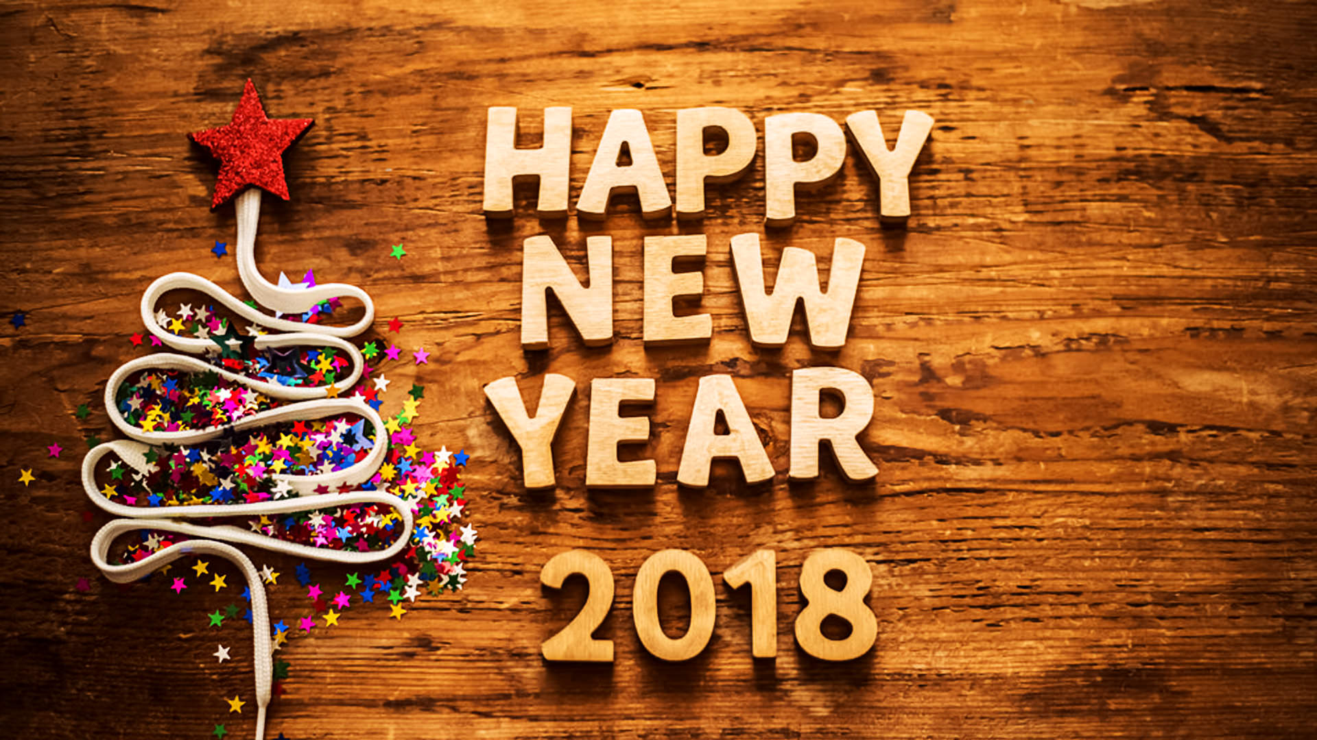 3D Happy New Year 2018 Wallpaper