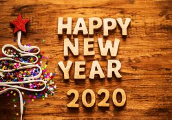 3D Happy New Year 2020 Wallpaper