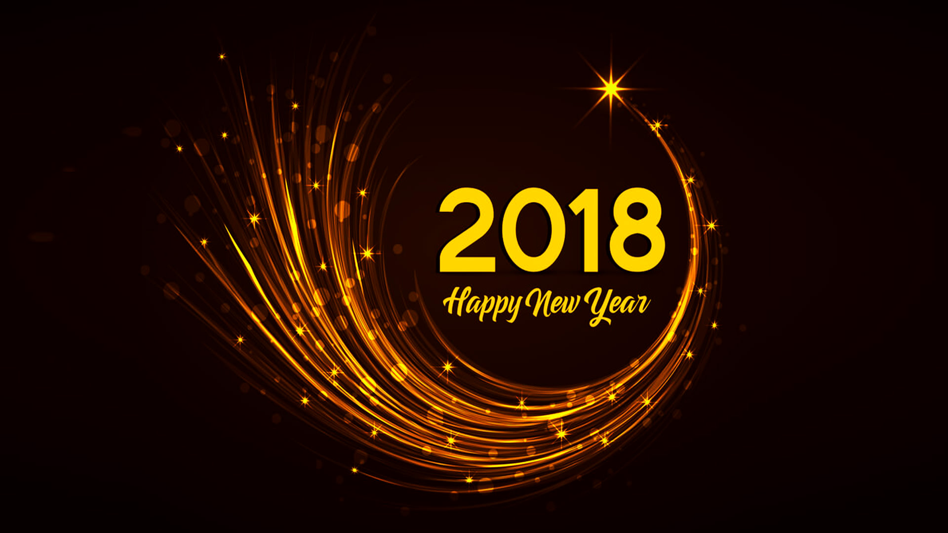 Beautiful Happy New Year 2018 Wallpaper