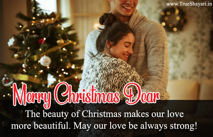Beautiful Merry Christmas Status for Lovers