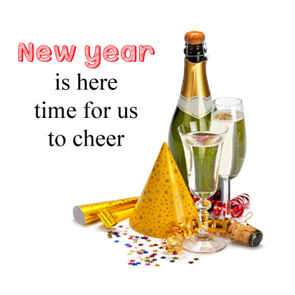 Cheer New Year 2018 Wine Glasses