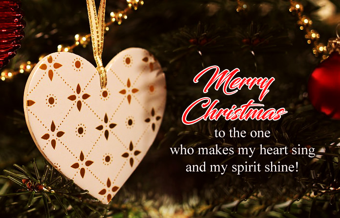 Christmas Love with Heart Quotes