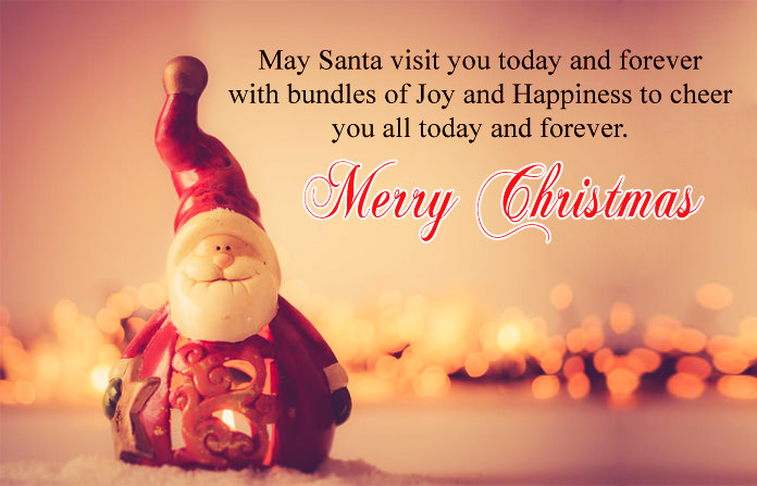 Christmas Quote with Santa Pic
