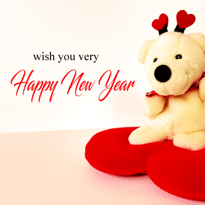 Cute Happy New Year DP with Teddy