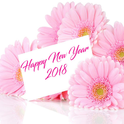 Happy New Year 2018 Images with Flowers