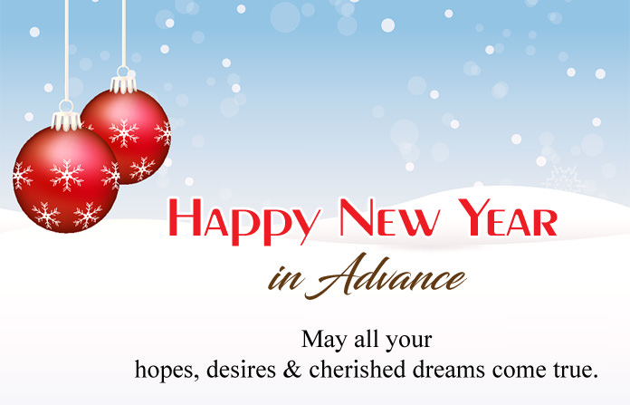 Happy New Year Advance Images