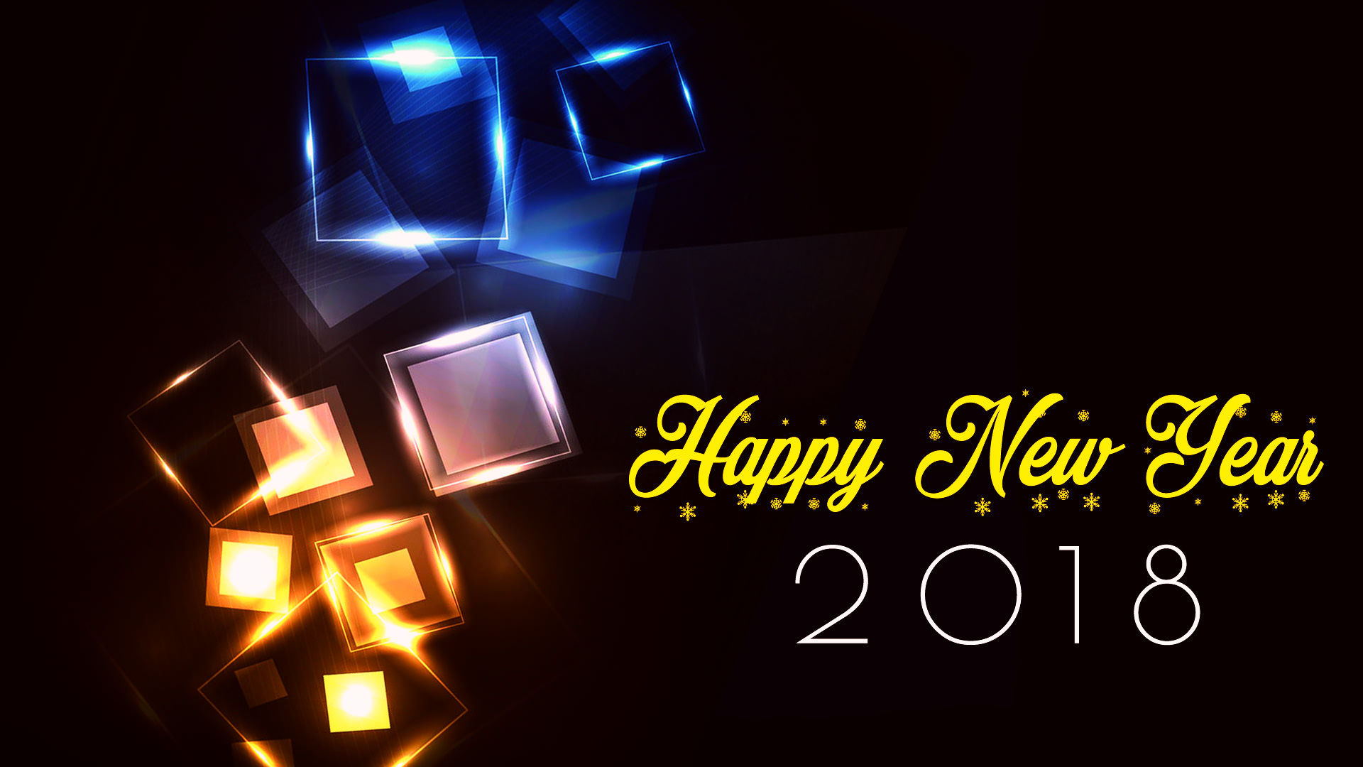 Lighting 2018 Happy New Year Wallpapers