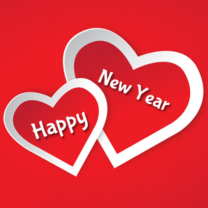 Love Heart New Year Images