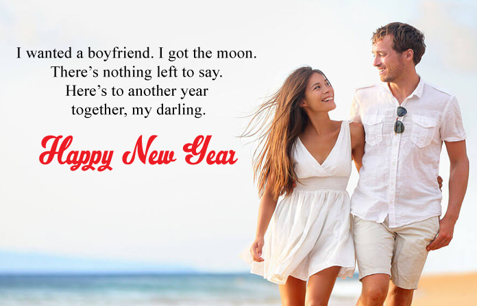 Cute Happy New Year Wishes for Lover, Romantic 2018 Love Images