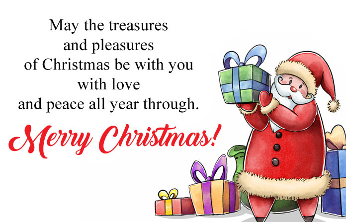 Santa Claus Gifts Wishes Christmas Image