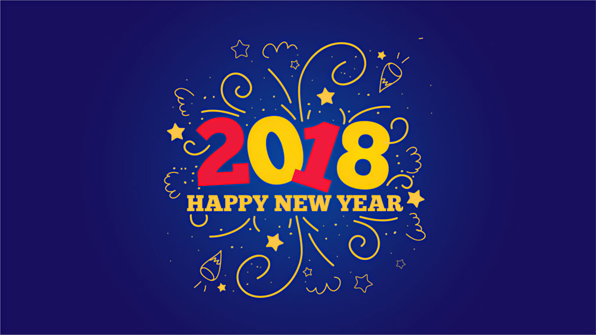 simple new year 2018 wallpaper for desktop pc click here for full size
