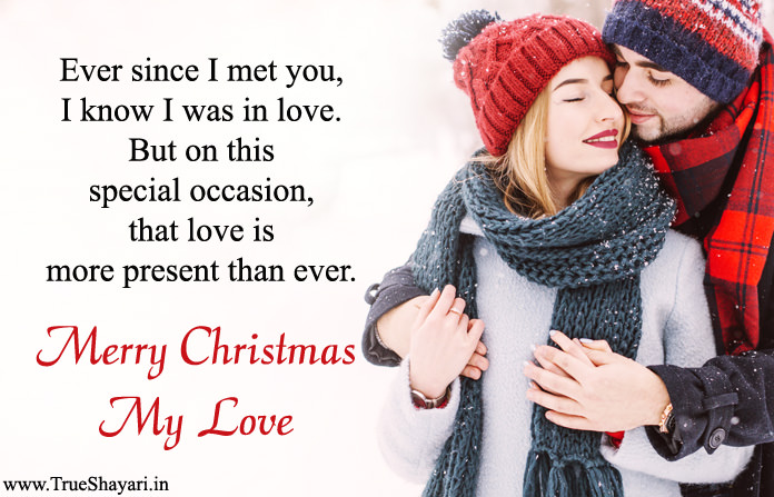 Special Christmas Love Message Picture for Lover