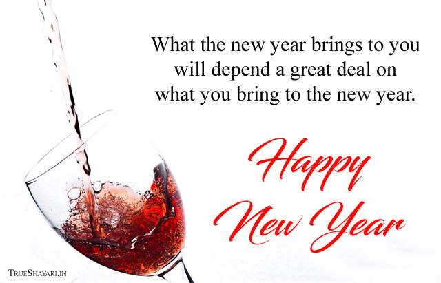 Wine Glass New Year Picture Wishes