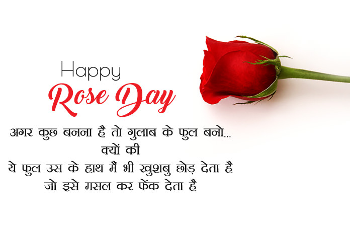 7th Feb Happy Rose Day Images In Hindi English Gulab Shayari Msg