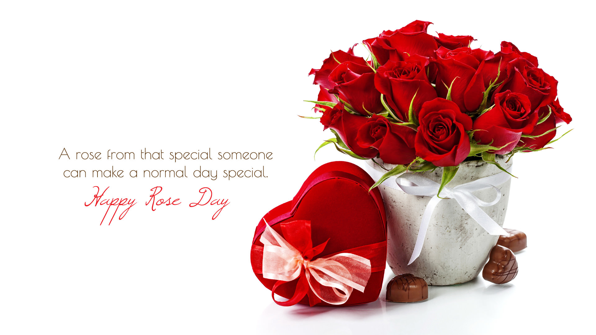 Red Rose Day Wishes Wallpaper