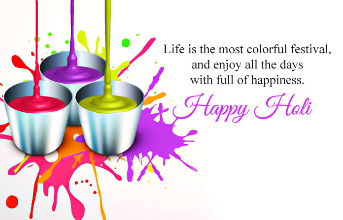 Colorful Holi Images with Wishes Messages