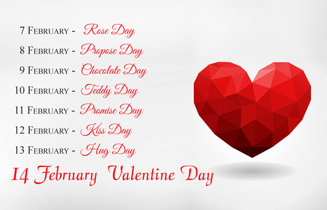 Complete Valentines Week Time Table