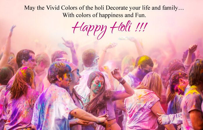Happy Holi Photos with Quotes